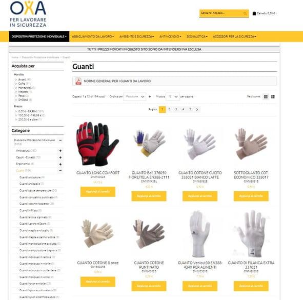 guanti da lavoro online